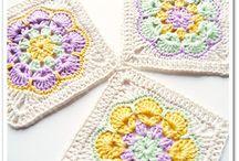 Crochet squares, engings, stitchs&etc