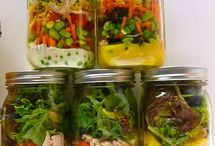 Pote de conserva de salada