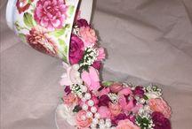 květinové aranžování- stuhy
