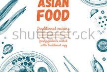 Asian food vector design