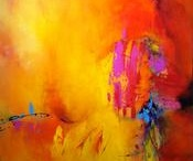 Joy Richardson / You can see all of Joy's abstract acrylic paintings at Canyon Road Contemporary Art in Santa Fe, New Mexico.