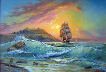 корабли и море