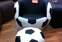 Football bedroom / fotball, soccer, soverom, ball, seng,