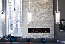 TV/Fireplace Wall...