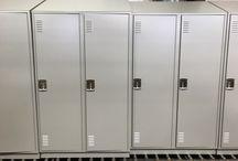 San Diego County Crime Lab - San Diego, CA #Lockers #DeBourgh / #Corregidoor #SentryThreeLatch #MetroGray #PianoHinge #LouveredVentilation #SlopeTop #ClosedBase #Lockers #DeBourgh
