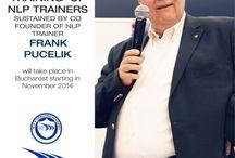 Curs Formare Trainer NLP cu FRANK PUCELIK in Romania / Unul dintre cei  trei fondatori ai Programarii Neuro Lingvistice, FRANK PUCELIK, se va afla pentru prima oara in Romania pentru a sustine cursuri de formare specializata de NLP de durata (cum este programul de trainer NLP). Este SINGURUL CURS de formare trainer NLP din Europa si din lume, si este sustinut de Frank PUCELIK pe o durata de 18 ZILE. http://www.aisucces.ro/evenimente/nlp-training-frank-pucelik/