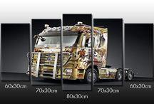 truck wall art