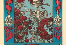 Fab psychadelic poster art / Fantastic pyschedelic poster art from the 60's and 70's