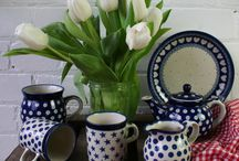 Polish Pottery / These beautiful kitchenware pieces from Artyfarty designs are simple yet stylish. Pick co-ordinating ranges or mix and match to create an eclectic set.