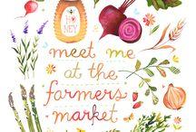 Farmers Market Inspiration / Inspiration for Farmer's Market related clip art