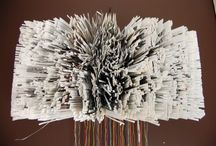 Papierkunst / Kunst van boeken en papier.