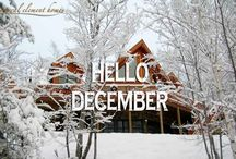Let It Snow, Let It Snow! / Beautiful Log and Timber homes from Natural Element Homes in the snow.  / by Natural Element Homes