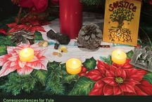 Winter Solstice (Yule) Altars / www.PurpleCrystalWitch.Etsy.com