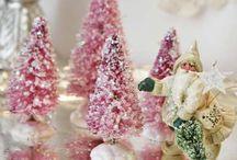 BOTTLE BRUSH CHRISTMAS TREES...BEAUTIFUL!!! / by MARGO MCAVANEY