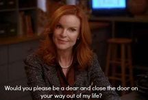 Bree van de Kamp : what a facade / Doggie is named Bree after her. Love the way she is portrayed.