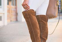 Brown OTK boots