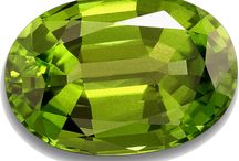 August Birthstone: Peridot / Images inspired by the August Birthstone.  Colours, clothing, jewellery, styles and stones.