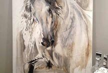 horses / heste malerier