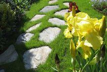 """Naturstein aus Polen im Garten und Landschaftsbereich / Firma B&M GRANITY - Diverse Natursteine aus Polen, die man im Garten interessant verwenden kann... Unterschiedliche Varianten und """"Stein-Kreationen""""… Schiefer, Serpentin, Granit, Sandstein, Syenit..."""