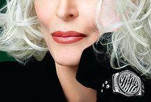 Grey hair beauty