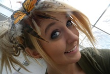 young woman's butterfly headband / by Fran Rollins
