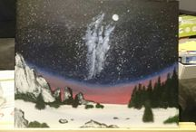 Acryl landscapes paintings