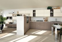 Open - Kitchens / Design by Scavolini | A sophisticated combination that unites the pleasures of cooking and entertaining, activity and relaxation  / by Scavolini