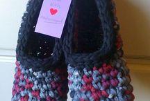 Crochet-Trapillo: zapatillas
