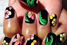 Flower nails art