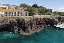 Quinta Albatroz Beach & Yacht Club / A traditional Madeira Quinta in a unique location with a sea front stretching 400 meters, which was converted into an Estalagem, a small hotel. It is located on the eastern point of the Santa Cruz bay and its waters and sea-bed are amongst the most beautiful to be found in the Atlantic.