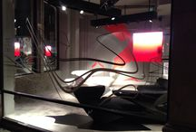 Zephyr at Cassina London showroom in Knightsbridge / Cassina showcases the Zephyr project designed by Zaha Hadid and produced by Cassina Contract at its London showroom in Knightsbridge