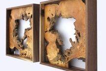Wood sculpture deco