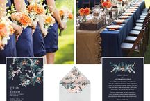 Orange and Navy wedding