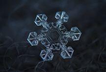 Снежинки, лед, зима