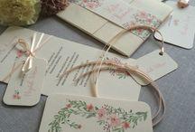 Floral wedding invitations / Floral wedding invitations