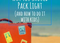 Travel Hacks / Traveling with kids   Packing light   Airport with Kids   Flying with kids   Road Trip Hacks   Ideas   Travel Hacks with Kids in Tow