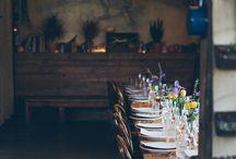 Table-party-dinner / Gedekte tafels; binnen & buiten
