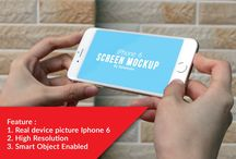 Screen Mockup / Collection of carefully crafted Screen Mockups