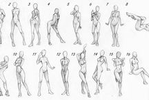 characters poses expressions..