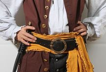 Men's Pirate Waistcoat / A unsleeved coat started out being called a Jerkin during the Buccaneer Pirate Era, they were short in length.  During the Golden Age of Pirate, they became to be called Waistcoats, n be long in length. They were first very long to the mid calf length n' became shorter to mid thigh length.  During the Late Pirate Era, the shorten and became Weskit.  In modern times we call it a Vest.