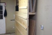 tool and timber storage wall