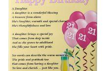 21st Birthday message