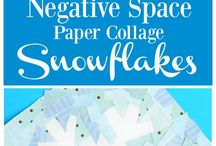 Winter activities / Things to do that has to do with winter. Example snowflakes. Penguins. Snow.