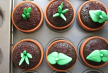 Pot plant cupcake toppers
