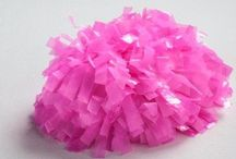 Poms! / Check out our collection of poms that are available for purchase. Call the office for colors and pricing.