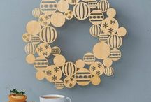 Xmas wooden decoration