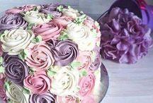 Tortas con flores