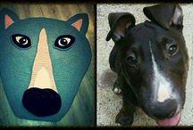 dog pitbull 2 m carpet crochet