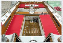 On Deck / Project inspiration and how-tos for all things above decks on your boat from cockpit cushions to biminis to sail covers to winch covers and more. / by Sailrite