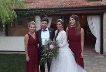 Turkish/Czech Burgundy Wedding in Italy